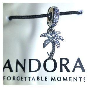 Brand new Pandora Sparkling Palm Tree Dangle Charm
